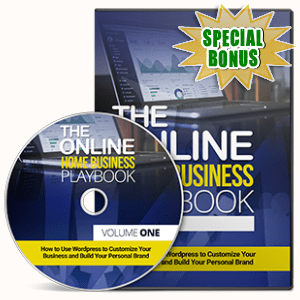 Special Bonuses - May 2017 - The Online Home Business Playbook Hands On Video Series