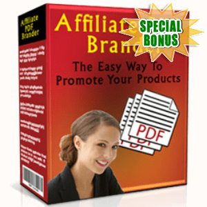 Special Bonuses - May 2017 - Affiliate PDF Brander Software