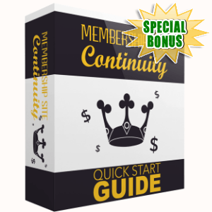 Special Bonuses - August 2017 - Membership Site Continuity Pack