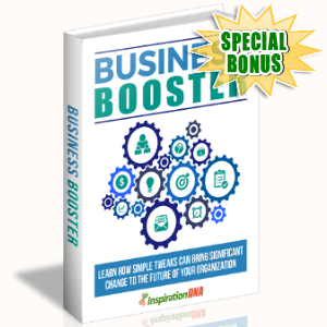 Special Bonuses - August 2017 - Business Booster Pack