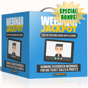 Special Bonuses - September 2017 - Webinar Jackpot Video Series Pack