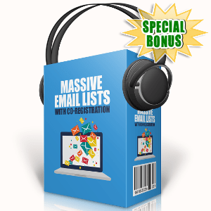 Special Bonuses - September 2017 - Massive Email Lists With Co-Registration Audio Pack