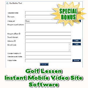 Special Bonuses - October 2017 - Golf Lessen Instant Mobile Video Site Software