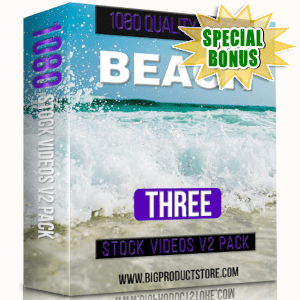 Special Bonuses - March 2019 - Beach 3 - 1080 Stock Videos V2 Pack