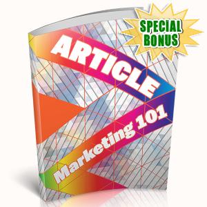 Special Bonuses - April 2019 - Article Marketing 101