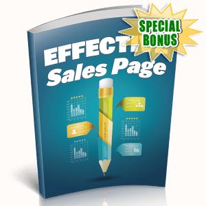 Special Bonuses - April 2019 - Effective Sales Page