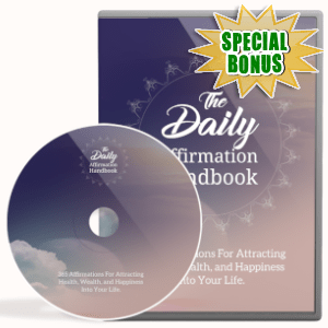Special Bonuses - May 2019 - The Daily Affirmation Handbook Video Upgrade Pack