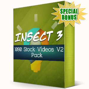 Special Bonuses - September 2019 - Insect 3 - 1080 Stock Videos V2 Pack