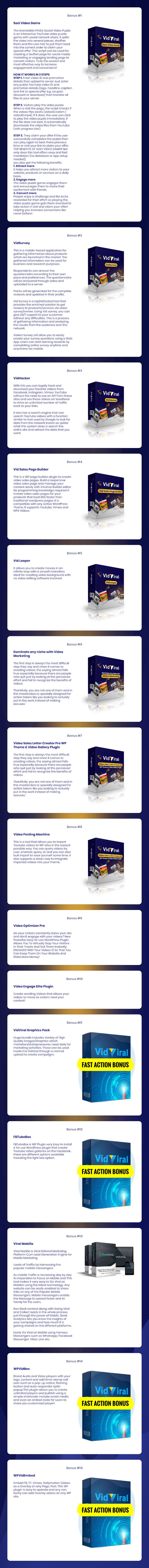 VidViral V2 Bonuses