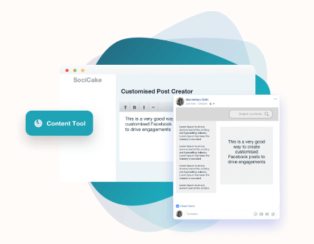 SociCake Agency Features - Content Tool