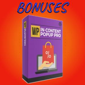 Krowd Bonuses  - WP In-Content Popup Pro