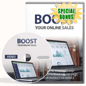 Special Bonuses - July 2020 - Boost Your Online Sales Video Upgrade Pack