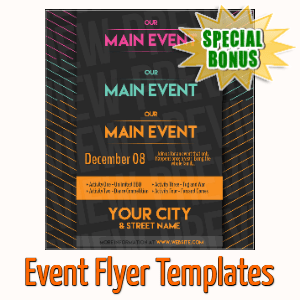 Special Bonuses - October 2020 - Event Flyer Templates