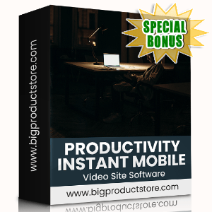 Special Bonuses - November 2020 - Productivity Instant Mobile Video Site Software