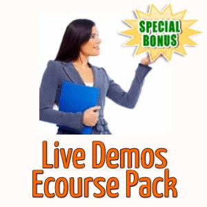 Special Bonuses - November 2020 - Live Demos Ecourse Pack