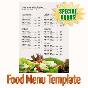 Special Bonuses - December 2020 - Food Menu Template