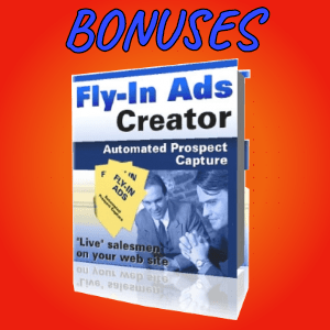 Spyvio Bonuses  - Fly-In Ads Creator