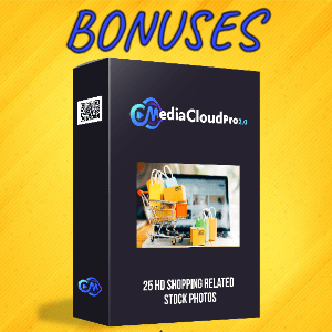 MediaCloudPro V2 Bonuses  - 25 HD Shopping Related Stock Photos