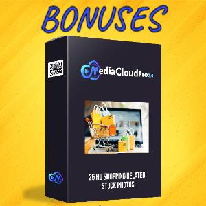 MediaCloudPro V2 Bonuses  - 25 HD Shopping Related Stock Photos