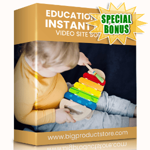 Special Bonuses #7 - January 2021 - Educational Toys Instant Mobile Video Site Software