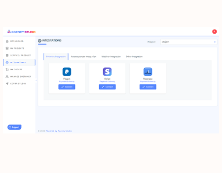 Agency Studio Features - Payment Integration