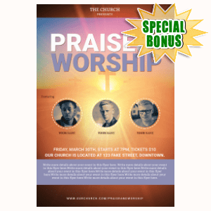 Special Bonuses #13 - August 2021 - Worship Flyer Template