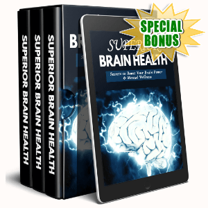 Special Bonuses #27 - August 2021 - Superior Brain Health Video Upgrade Pack