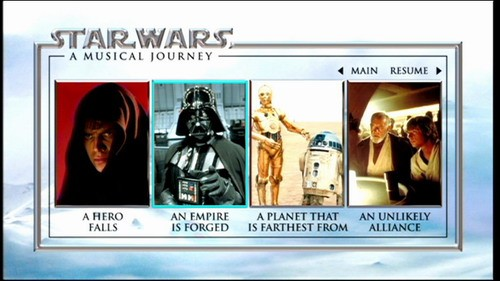 Star Sith Wars Menu Dvd