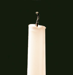 An extinguished candle