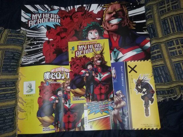 Sobre-capas pôster do volume 1 de My Hero Academia