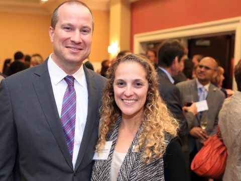 Matt and Rabbi Samantha Kahn at an AJC event in San Francisco (Photo/Mark Sandstorm )