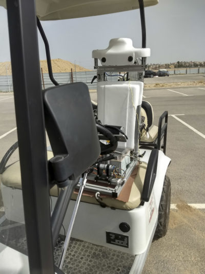Hugo Guterman's team is working on an IVO, a robotic chauffeur. (Photo/Courtesy Ben-Gurion University)