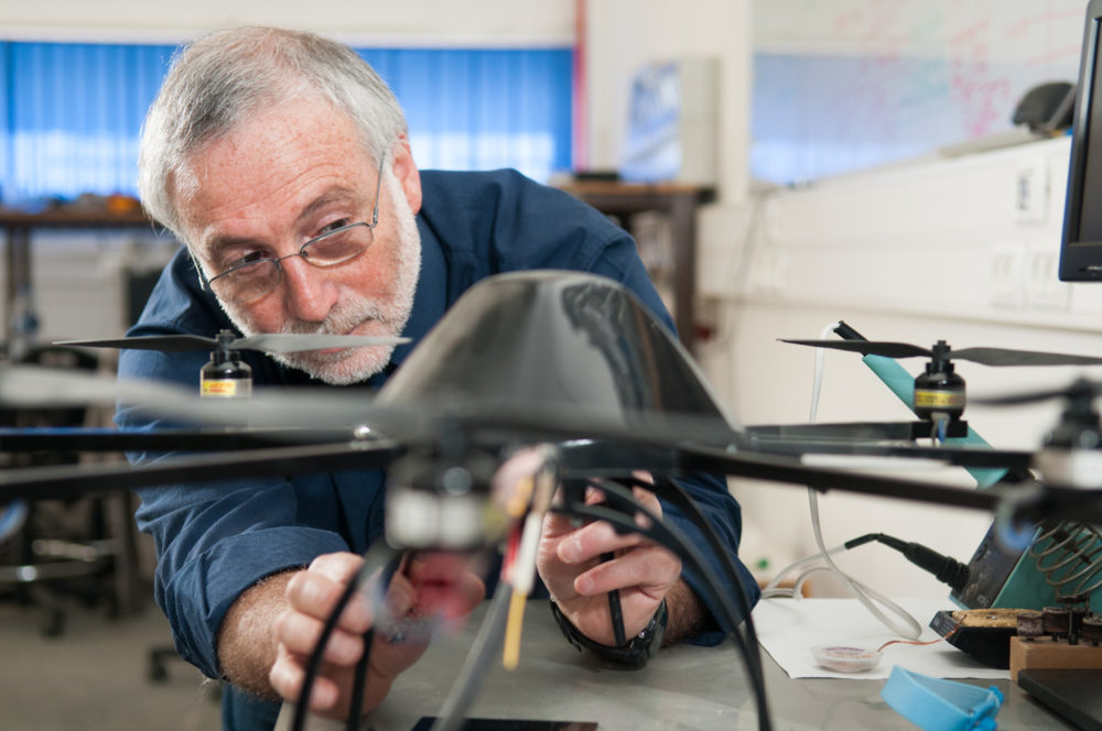 Prof. Hugo Guterman in his lab in 2012 (Photo/Dani Machlis)