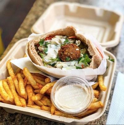 Falafel and fries from Flying Falafel