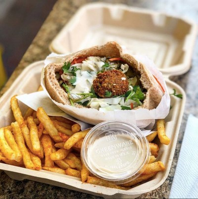 Falafel and fries from Flying Falafel