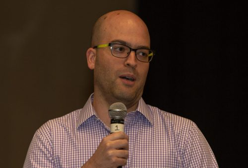 Yonatan Winetraub of SpaceIL speaking at APJCC Oct. 31, 2018