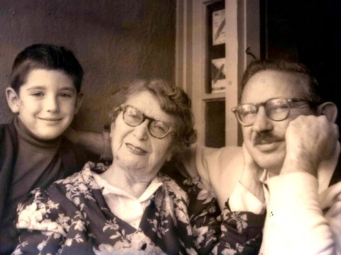 A young Michael Tilson Thomas with his grandmother Bessie Thomashevsky and his father, Ted Thomas (Photo/Courtesy Thomashefsky Project, Collection of Michael Tilson Thomas)