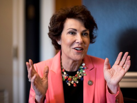 Rep. Jacky Rosen, D-Nev., speaks with Roll Call in her office on Capitol Hill, Oct. 26, 2017. (Photo/JTA-Bill Clark-CQ Roll Call)