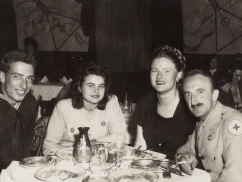 A 1946 photograph taken at the Balalaika nightclub in San Francisco with Salvatore Maida on the left with Ellen Philipsborn sitting next to him. The identity of the other couple is not known.