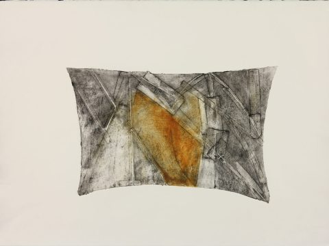 """""""Patched Dream,"""" from the series """"Pillows"""" by Lola Fraknoi"""