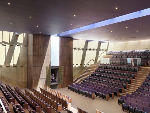 The sanctuary of Congregation Beth Sholom in S.F. (Photo/Natoma Architects)