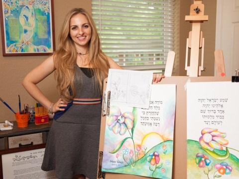 Artist Anna Abramzon in her studio