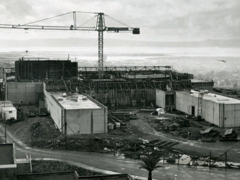 The Oakland Temple of the Church of Jesus Christ of Latter-day Saints under construction in 1963 (Photo/Courtesy Church of Jesus Christ of Latter-day Saints)