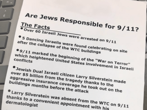 Part of the flyer found at multiple locations in Novato (Photo/Courtesy Matt Elkins)