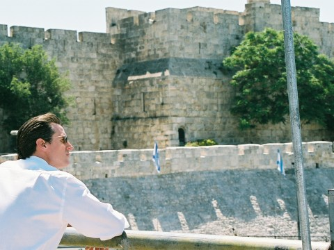 Then-Mayor Gavin Newsom in Jerusalem's Old City in May 2008
