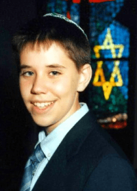 Proof that, yes, I had my bar mitzvah in this now zombie-infested synagogue.
