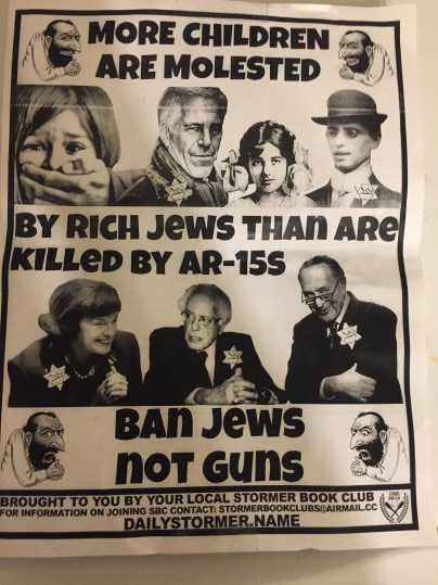 Anti-Semitic flyer [posted at a Modesto church.