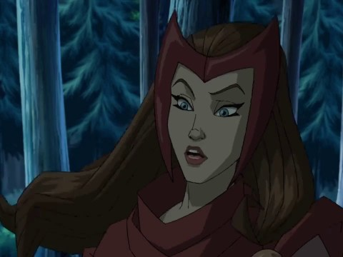 "Scarlet Witch in an episode of the animated series ""Wolverine and the X-Men"""