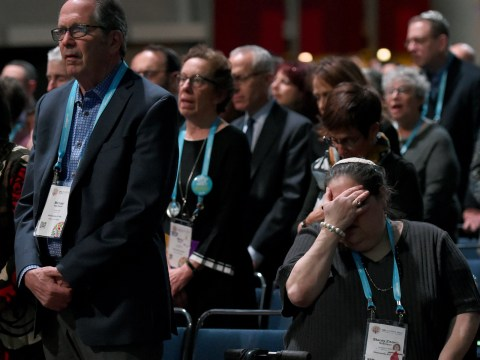 Some of the 5,000 worshippers at the Friday night URJ Biennial service. (Rob Dicker/Union for Reform Judaism)
