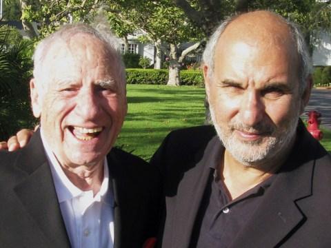 Mel Brooks (left) with filmmaker Alan Yentob, former creative director for the BBC. (Courtesy HBO)